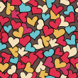 Seamless pattern of red hearts. — Stock Vector