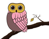 Owl card — Stock Vector