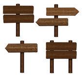 Panneaux bois — Vecteur