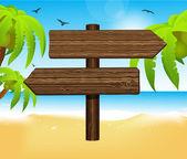 Arrow blank wooden sign — Stock Vector