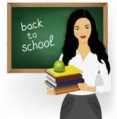 Teacher woman — Stock Vector