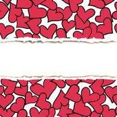 Pattern rip paper — Vector de stock