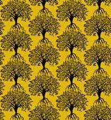 Modello di alberi — Vettoriale Stock