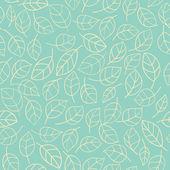 Sem costura estilizada folhas padrão — Vetorial Stock
