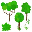 Set vector plants — Stock Vector #27478011