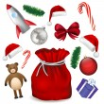 Cristmas toys — Stock Vector #32053347