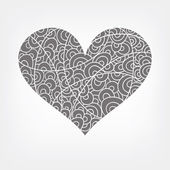 Vector abstract heart in white — Stock Vector