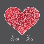Stylish card Valentine's Day — Vector de stock