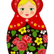 Russian tradition matryoshka dolls — Grafika wektorowa