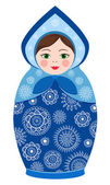 Russian tradition matryoshka dolls — Vector de stock