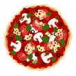 Stock Vector: Pizza in vector