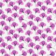 Stock Vector: Violet flower seamless pattern, vector