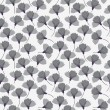 Black and white flower seamless pattern — Stock Vector