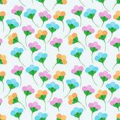 Flower simple seamless pattern — Stock Vector