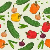 Vegetables pattern — Stock Vector