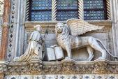 Venice. Winged Lion of St. Mark - symbol of Venice, Italy — Stock Photo