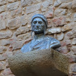 Постер, плакат: Sculpture of Dante near the House Museum of Dante in Florence Italy