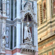 Fragment of Cathedral SantMaridel Fiore in Florence, Tuscany, Italy — Stock Photo #13712793