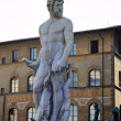 Stock Photo: Fountain of Neptune on PiazzdellSignoriin Florence, Tuscany, Italy