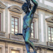 Statue of Perseus slaying Medusa - Loggia del Lanzi (Piazza della Signoria, Firenze, Italia) — Stock Photo