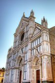 The Basilica di Santa Croce (Basilica of the Holy Cross). Florence, Italy — Zdjęcie stockowe