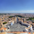 Panoramic view on St Peters Square. Roma, Italy - Stock Photo