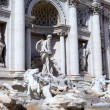Fragment of The Trevi Fountain. Roma (Rome), Italy — Stock Photo #17834137