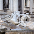 Fragment of The Trevi Fountain. Roma (Rome), Italy — Stock Photo