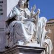 Fragment of Column of the Immaculate conception. Roma (Rome), Italy — Stock Photo