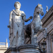 Statue near Palazzo Senatorio at Capitoline Hill. Roma (Rome), Italy — Stock Photo #17834257