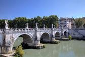Sant Angelo Bridge. Roma (Rome), Italy — Stock Photo