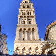 Bell tower of St. Duje cathedral. Split, Croatia - Stockfoto
