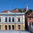 The Slovenian Philharmonic on Congress Square. Ljubljana, Slovenia — Stock Photo