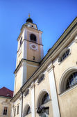 Campanille of Cathedral of Ljubljana. Slovenia — Stockfoto