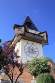 Clock Tower in Schlossberg. Graz, Austria — Stock Photo