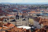 Panorama of the Graz with the city hall, Austria — Stock Photo