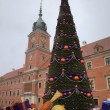 New Year tree at Old Town Square near Royal Castle. Warsaw, Poland — Stock Photo #18687711