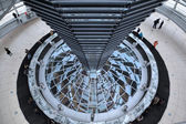 Dome of Reichstag. Inside view. Berlin, Germany — Stockfoto