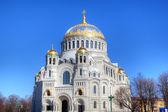 Cathédrale navale de saint-Nicolas à kronstadt, Russie — Photo