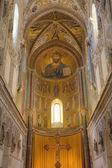 キリスト聖パントクラトール。イタリア、シチリア チェファル大聖堂 — ストック写真