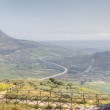 Panoramic view of Segesta valley. Sicily, Italy — Stok fotoğraf