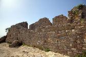 Antika vägg nära theater i segesta. sicilien, italien — Stockfoto
