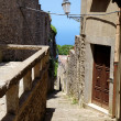 View of ancient road in Erice. Sicily, Italy — Stock Photo