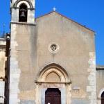 Saint Agostino church in Taormina. Sicily, Italy — Stock Photo