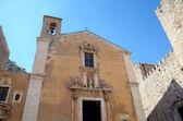 Igreja de santa catarina em taormina. sicília, itália — Foto Stock