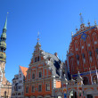 House of the Blackheads and St. Peter's Church. Riga, Latvia — Стоковое фото