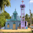 Stock Photo: Catholic Church in Kanyakumari. Tamilnadu, India
