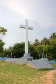 Yesu Aurelia javanthi mahajubilee. Memorial shrine adimalathura. Chowara beach, au sud de kovalam, kerala, Inde — Photo