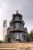 Yesu Christu Javanthi MahaJubilee. Memorial Shrine Adimalathura. Chowara Beach, South of Kovalam, Kerala, India — Stock Photo