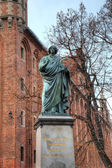Nicolaus Copernicus monument. Torun, Poland — Stock Photo